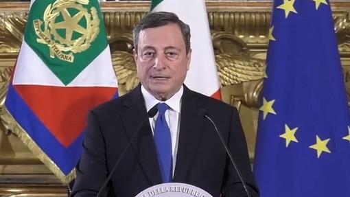 """Draghi: """"Riaperture sì, ma non posso ancora dire quando. Dipenderà dall'andamento vaccinale"""""""