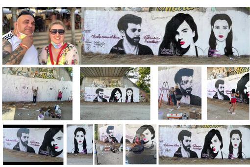 La street Art di Fabiana Macaluso & Writer Chiuto decora Bastia Umbra