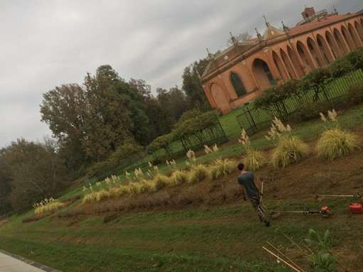 Giardiniere al lavoro