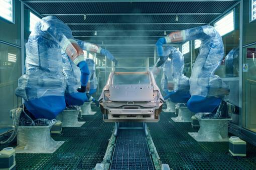 catena di montaggio automotive